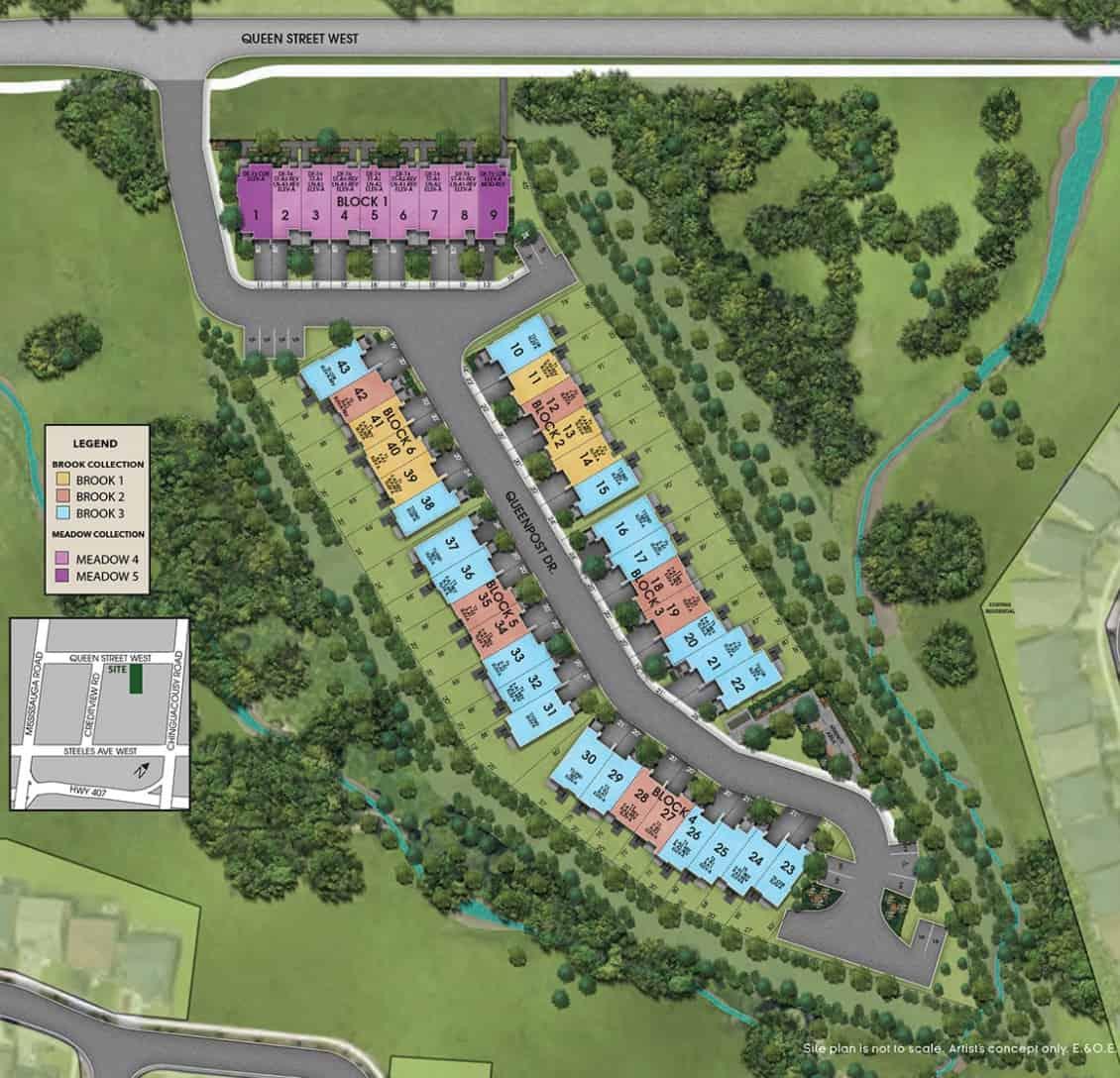 Copper Trail Creek site plan