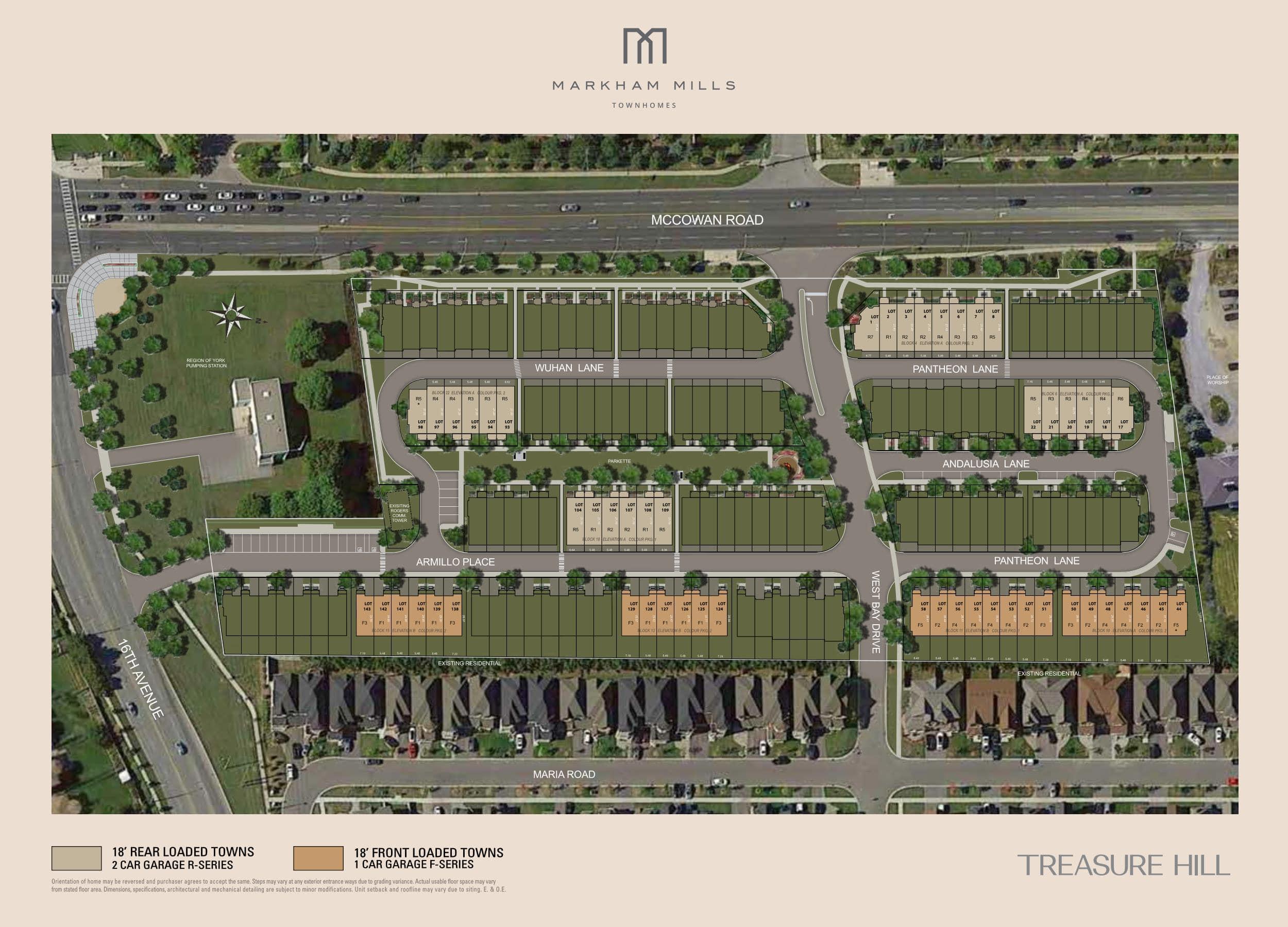 Markham Mills Towns - Site Plan-min