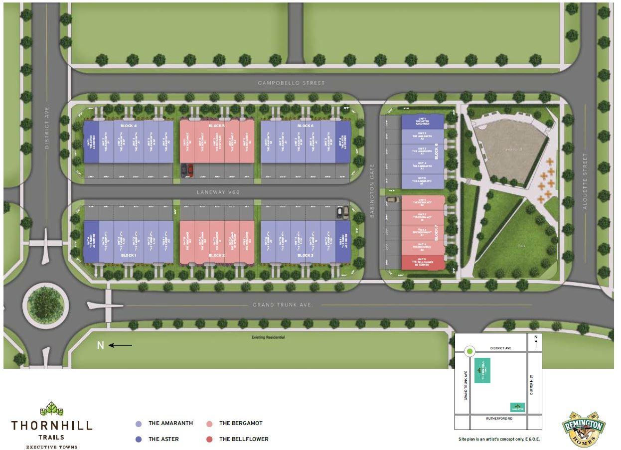 Thornhill Trails town site plan