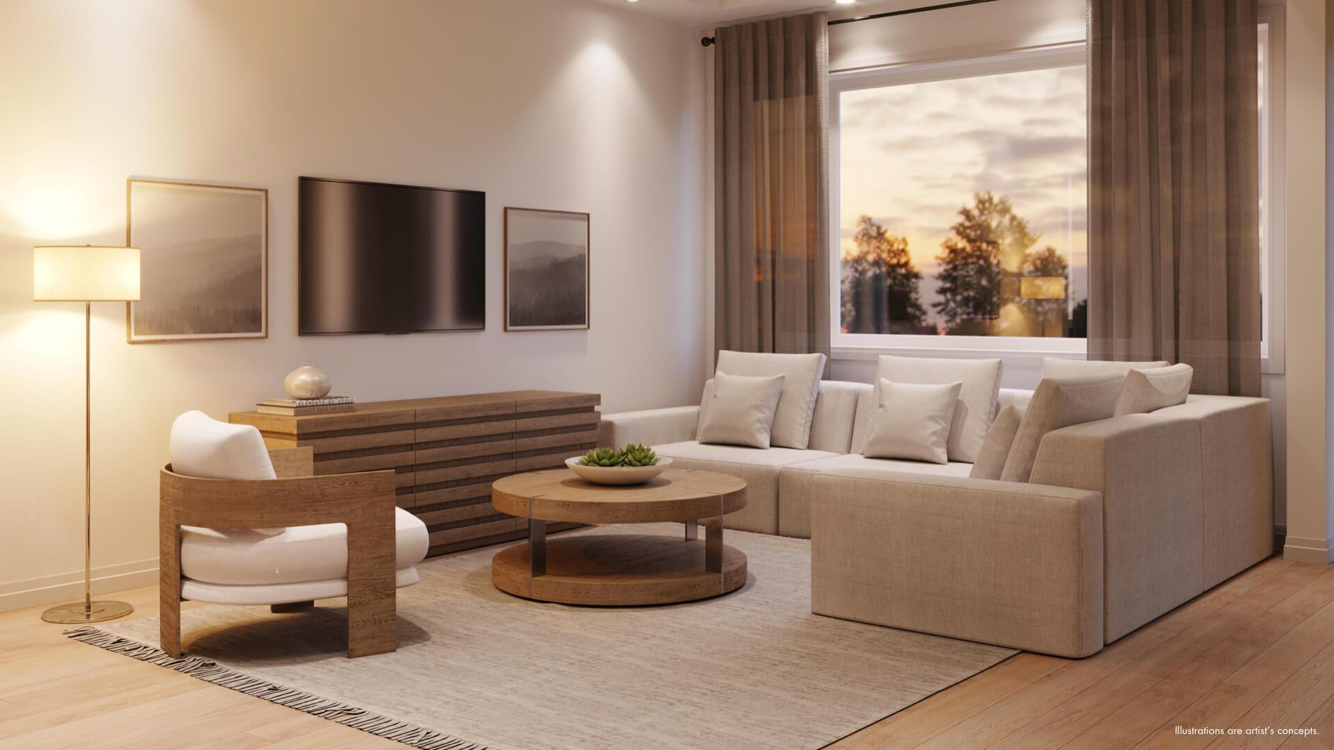 Cachet Mount Hope living room