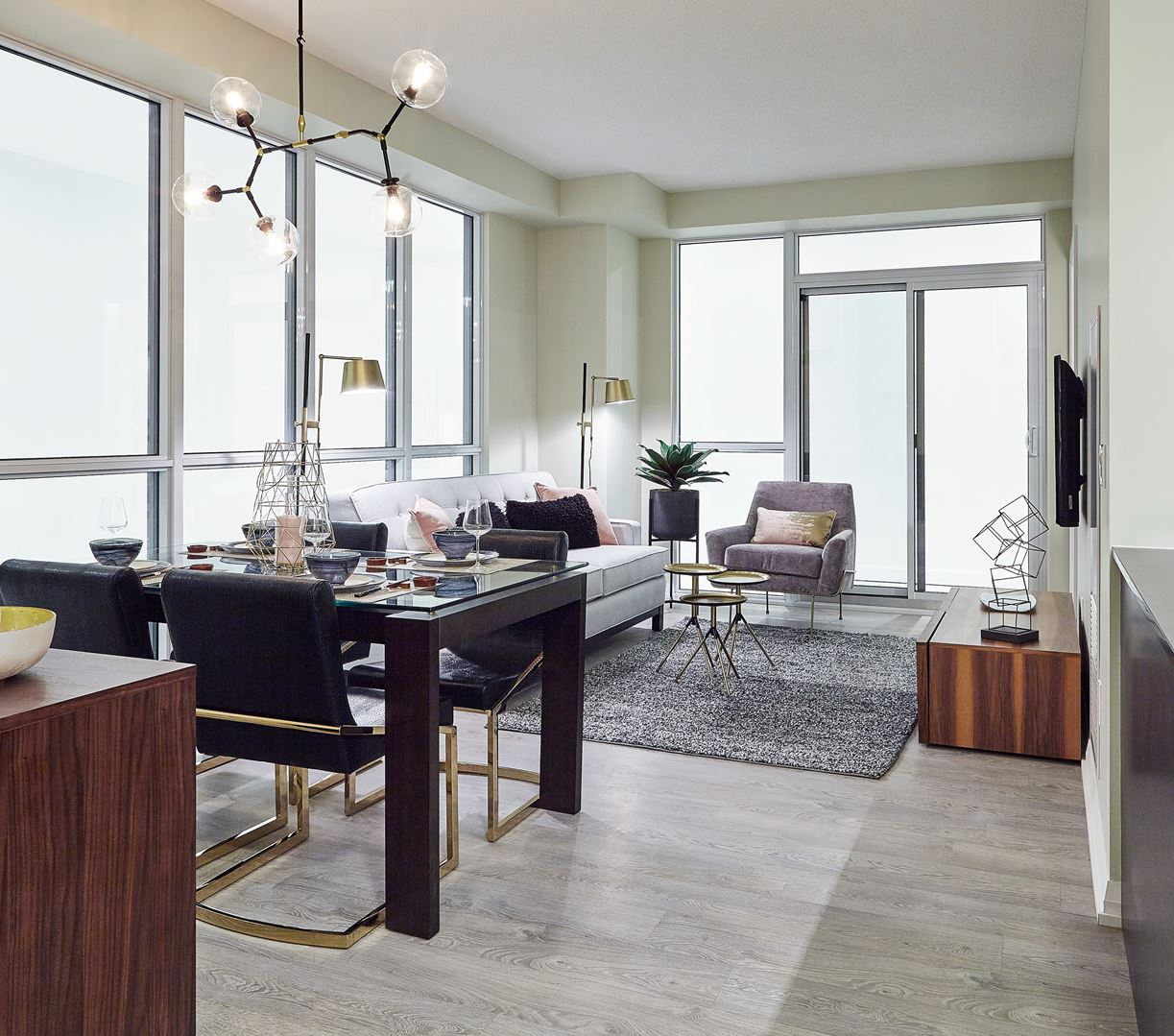 Cypress at Etobicoke living room