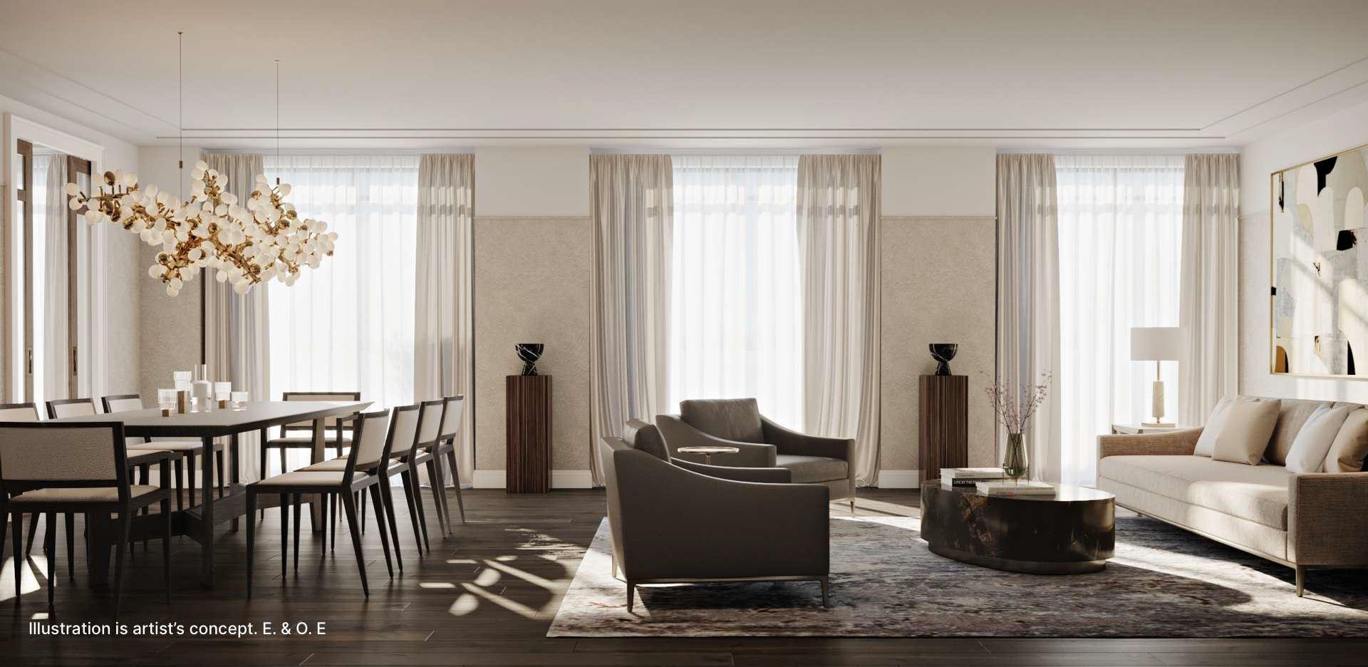 Glenhill condos living room