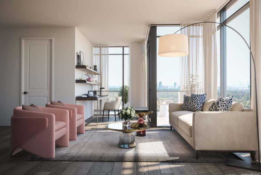 Notting Hill condos living room 01