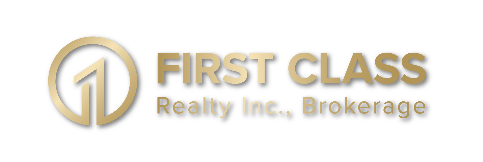 First Class Logo With drop shadow