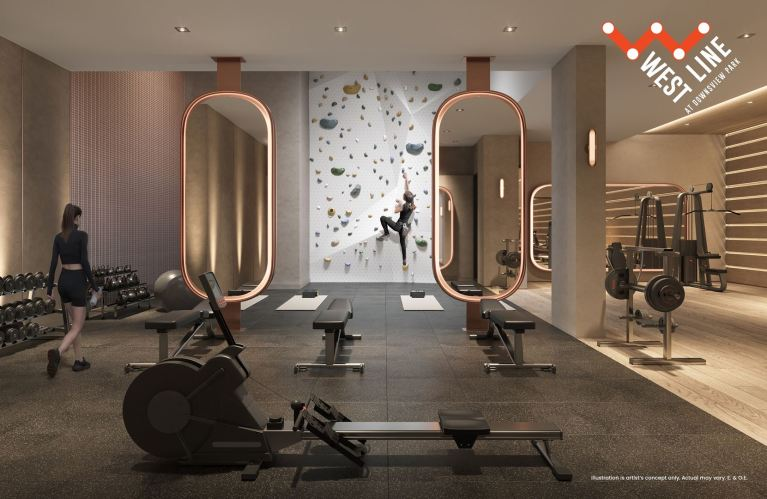 WestLine Condos fitness centre