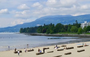 English Bay Beach in Vancouver's West End neighbourhood