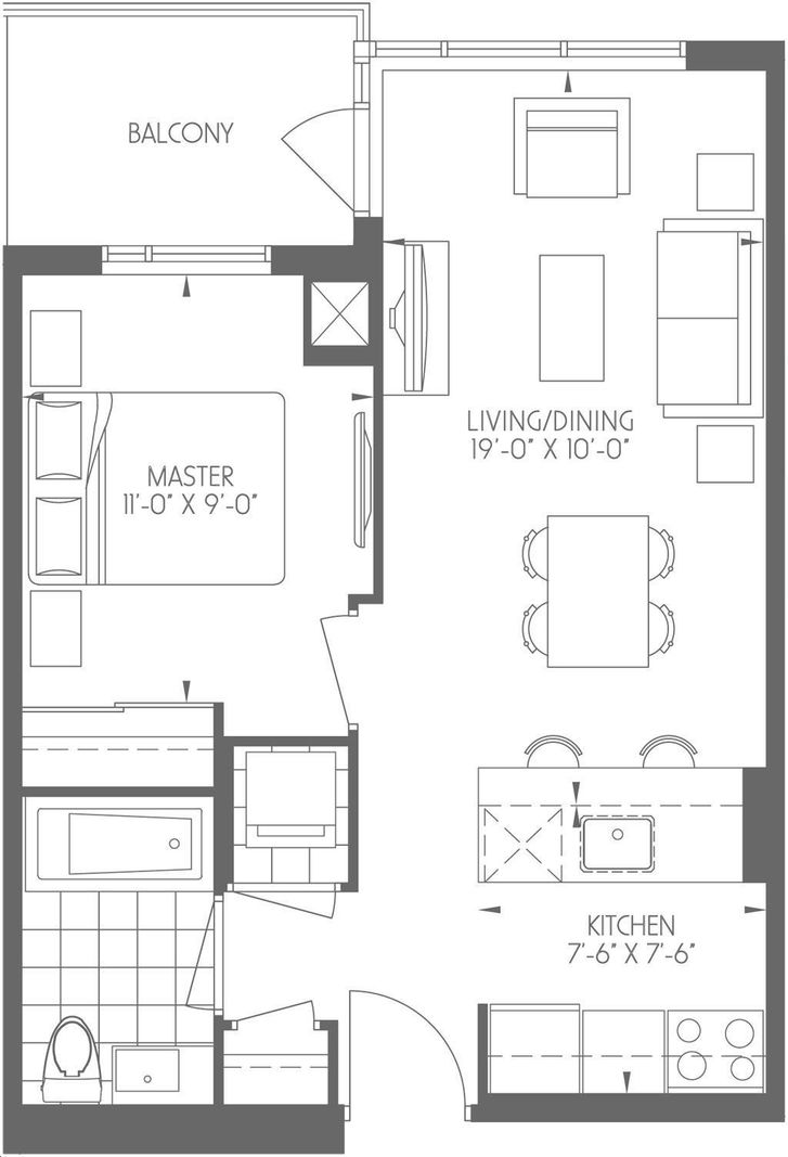 Dream Tower at Emerald City 1 bed, 1 bath