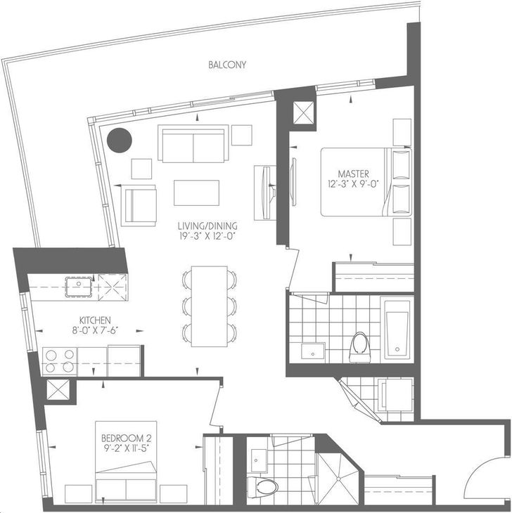 Dream Tower at Emerald City 2 bed, 2 bath