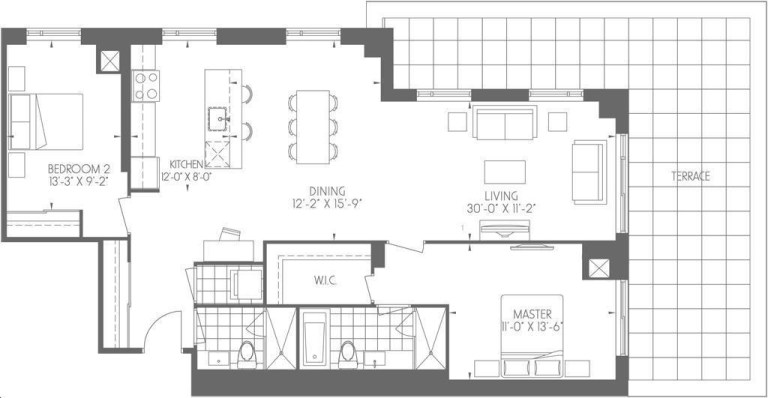 Dream Tower at Emerald City 2bed, 2 bath