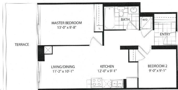 The Barrington Condos 2 bed + 1 bath