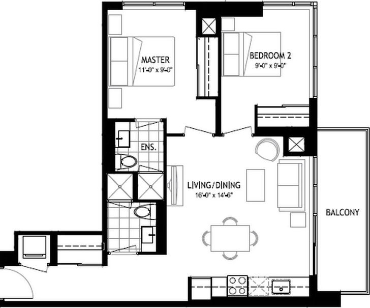 The Colours of Emerald City 2 bed, 2 bath