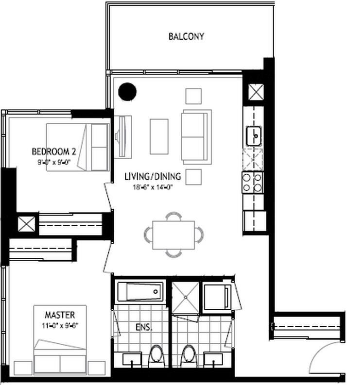 The Colours of Emerald City 2bed, 2 bath