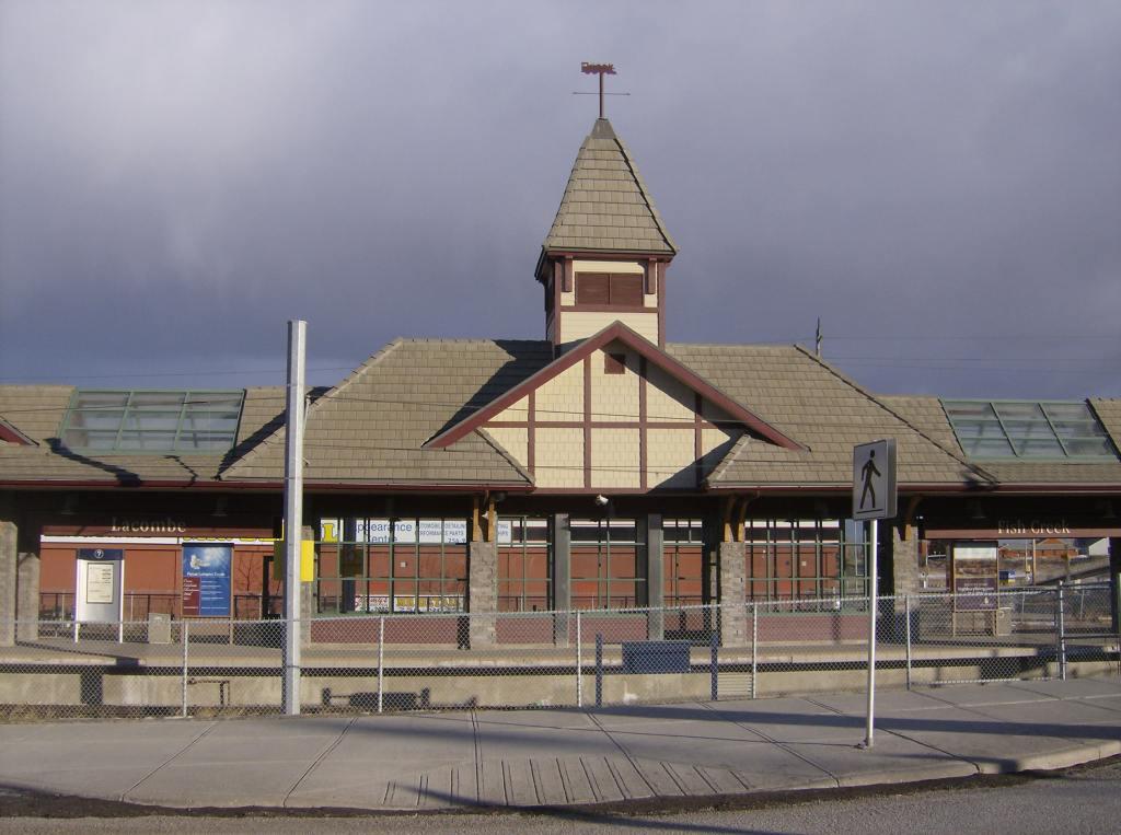 The Fish Creek-Lacombe LRT station-min