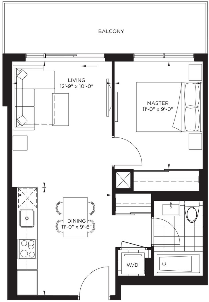 The Point at Emerald City 1 bed, 1 bath