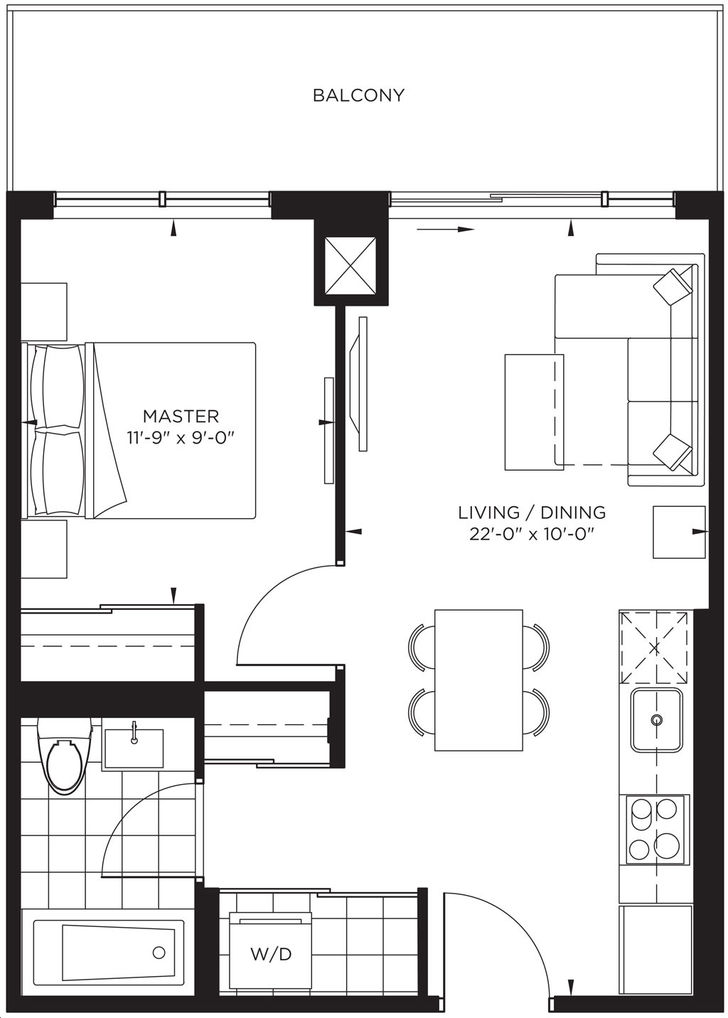 The Point at Emerald City 1 bed, 1bath