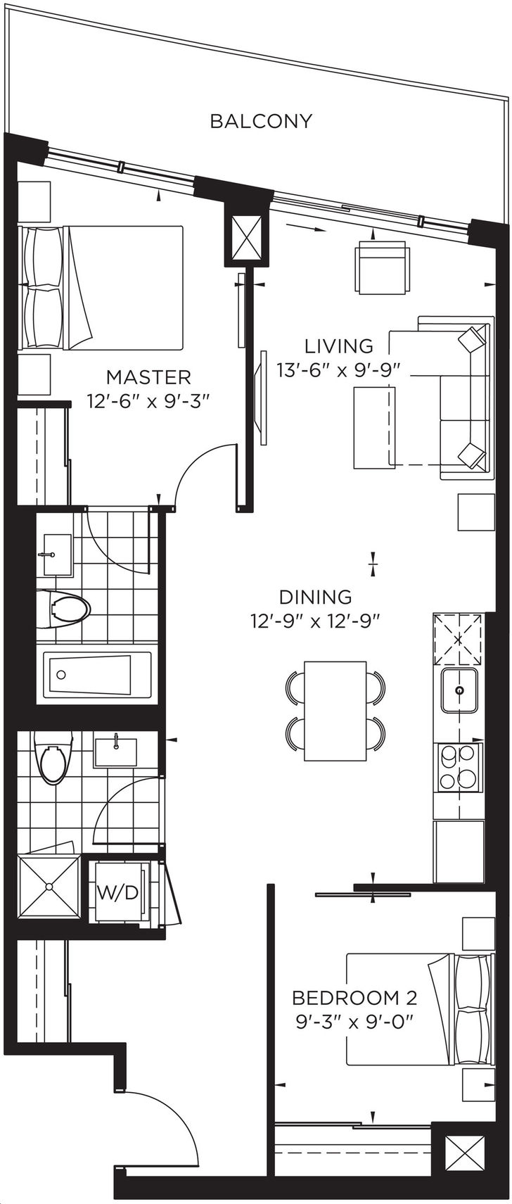 The Point at Emerald City 2 bed, 2 bath