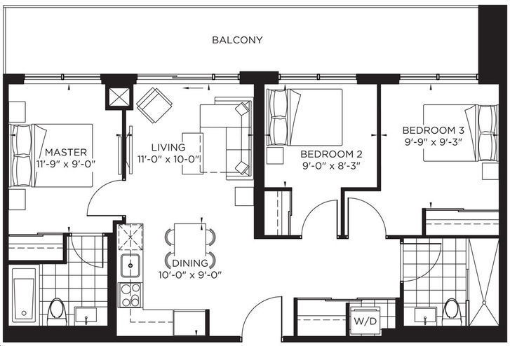 The Point at Emerald City 3bed, 2 bath