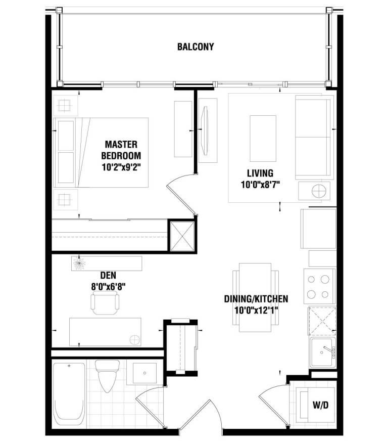 Tricycle Condominiums 1 BD + 1 den