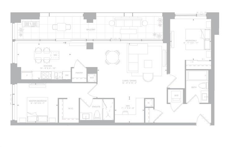 1181 Queen West Condos 2 bed, 2 bath, den
