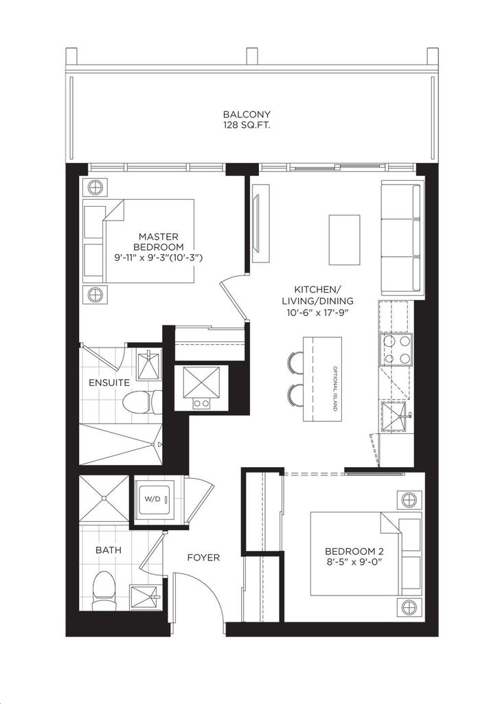 South Tower at the Buckingham 2 bed, 2 bath
