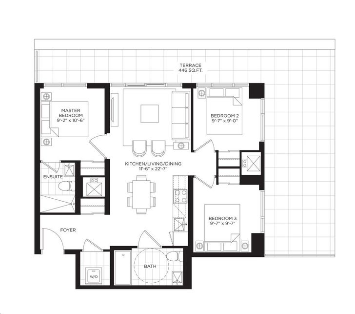 South Tower at the Buckingham 3 bed, 2.5 bath