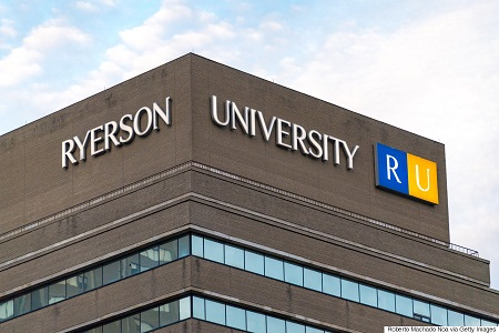 Ryerson University modern building facade exterior: School's