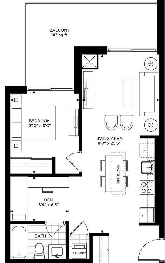 The Craftsman Condominium Residences 1 bed, 1 bath