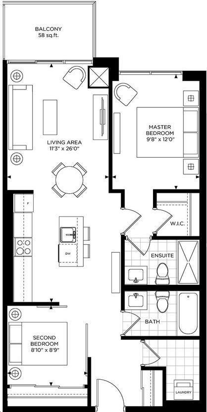 The Craftsman Condominium Residences 2 bed, 2 bath