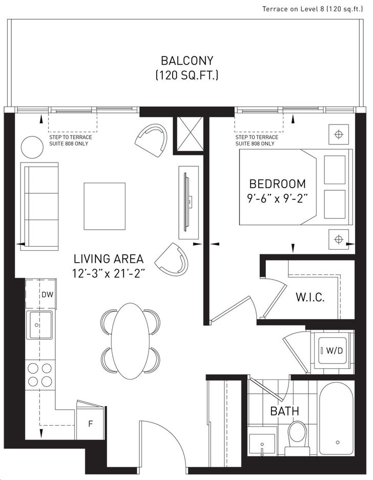 The Queensview at Backyard Condos 1 bed, 1 bath totoo